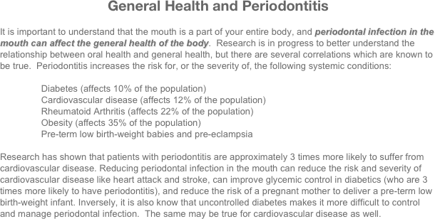 General Health and Periodontitis